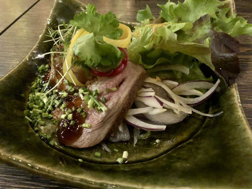Tataki von der Entenbrust