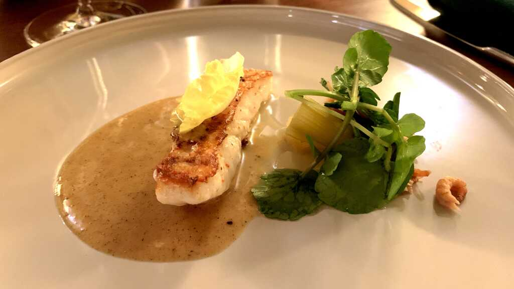 Bretonischer Steinbutt | Celtuce | Krabben