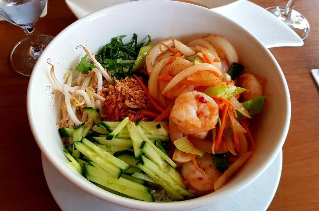Traditionell Vietnam mit Garnelen