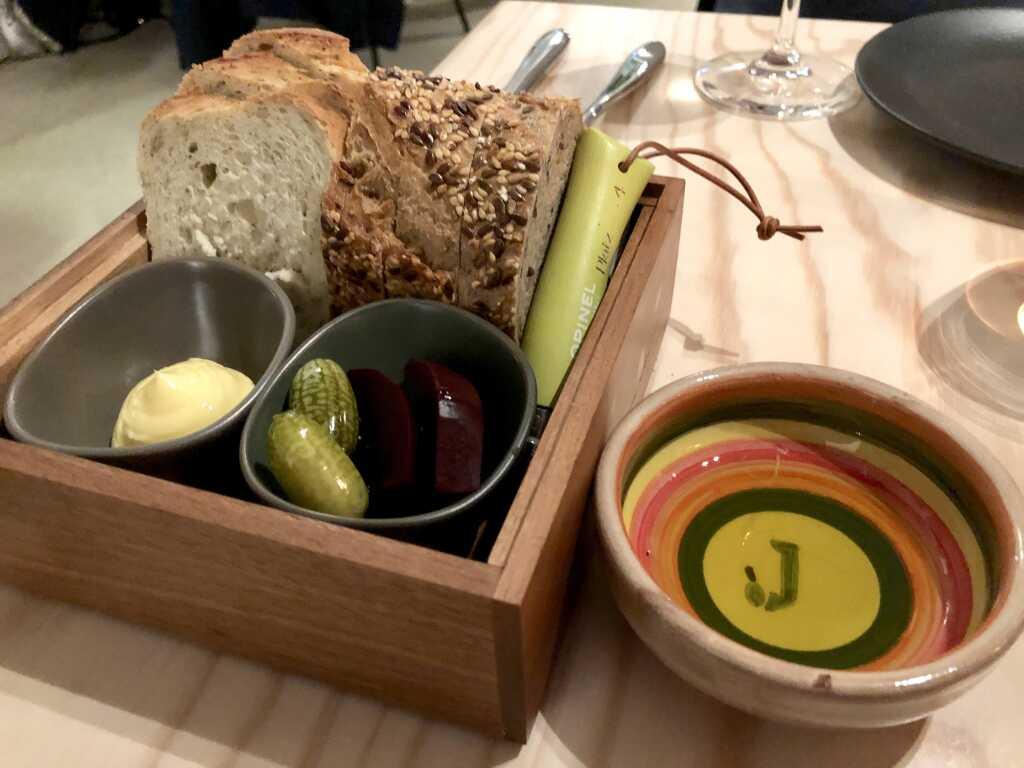 Brot -Salzbutter – Jordan Olivenöl – Eingewecktes Gemüse