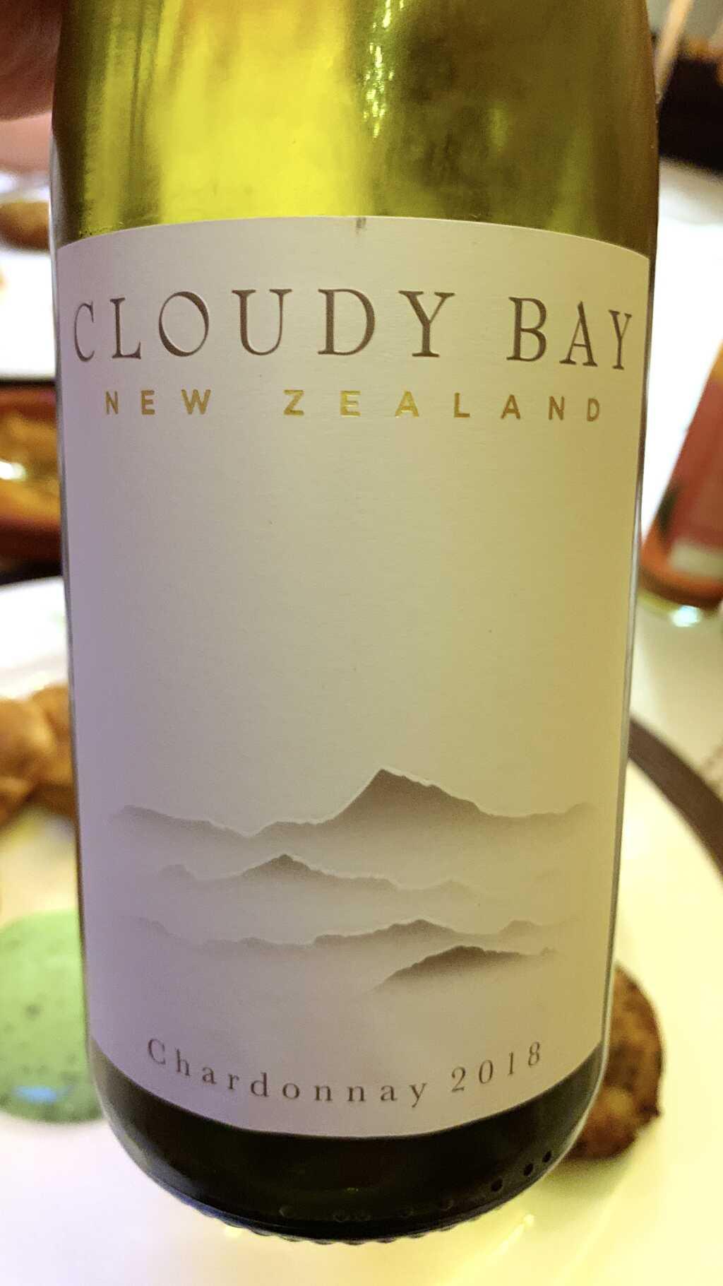 2018 Cloudy Bay Chardonnay (Hochformat, bitte Foto anklicken sofern auf einem PC oder Mac betrachtet)
