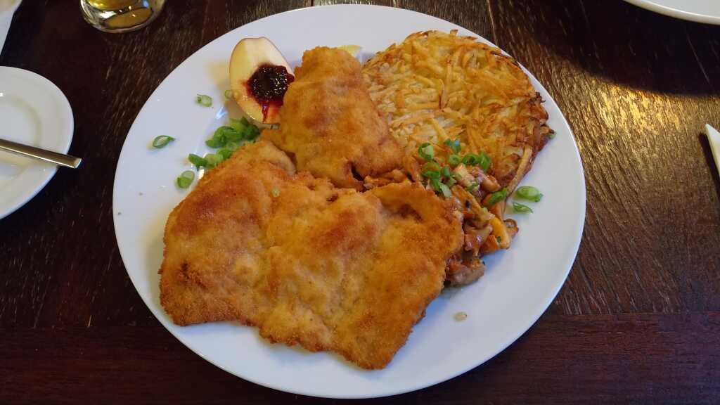 Schnitzel mit Pfifferlingen