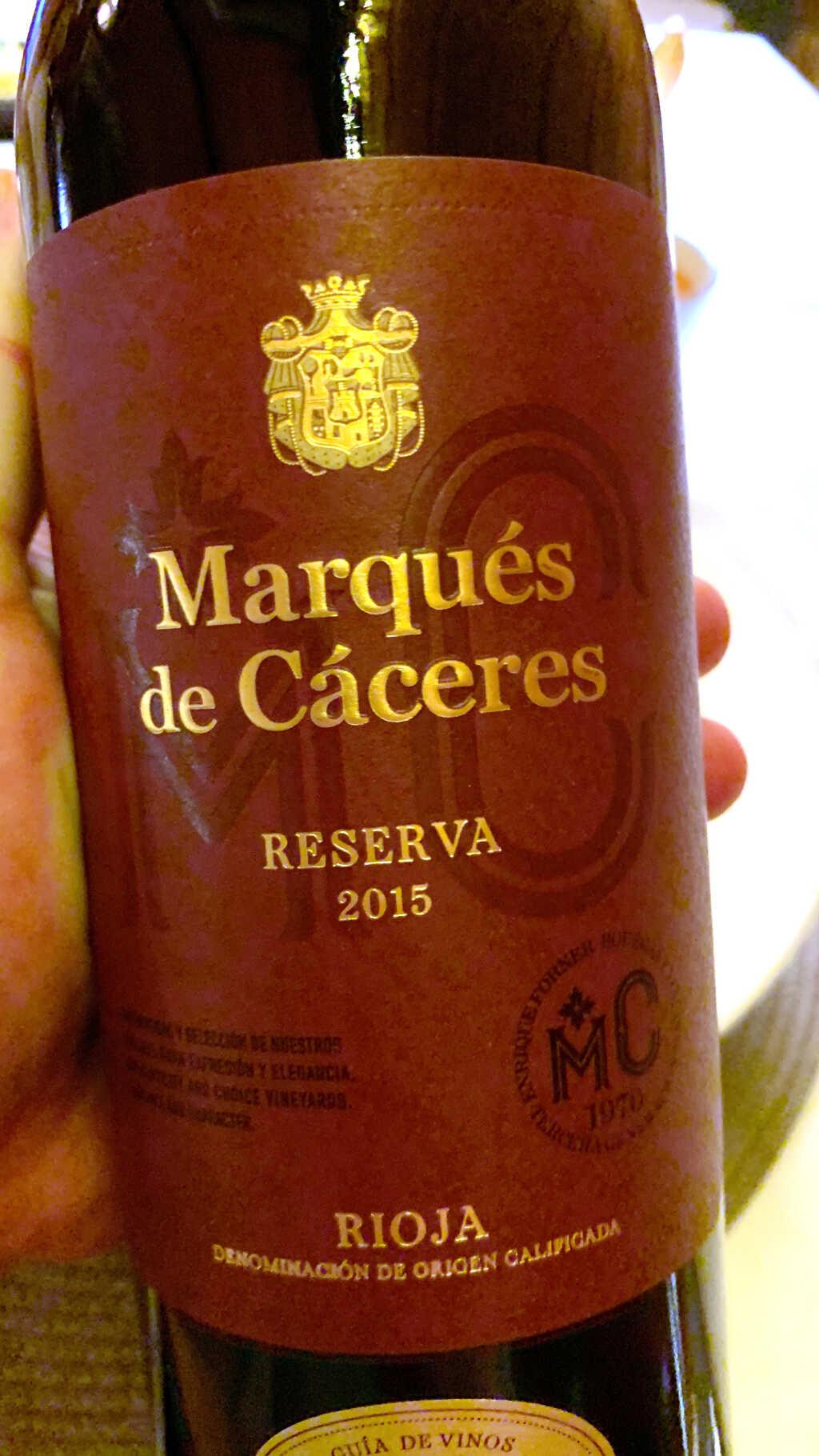 2015 Marqués de Cáceres Reserva