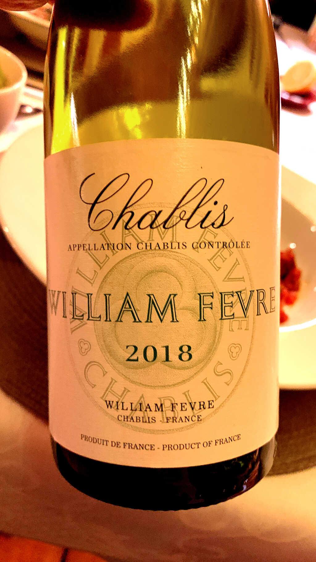 2018 Chablis, Chardonnay, Domaine William Fevre, Chablis, Frankreich