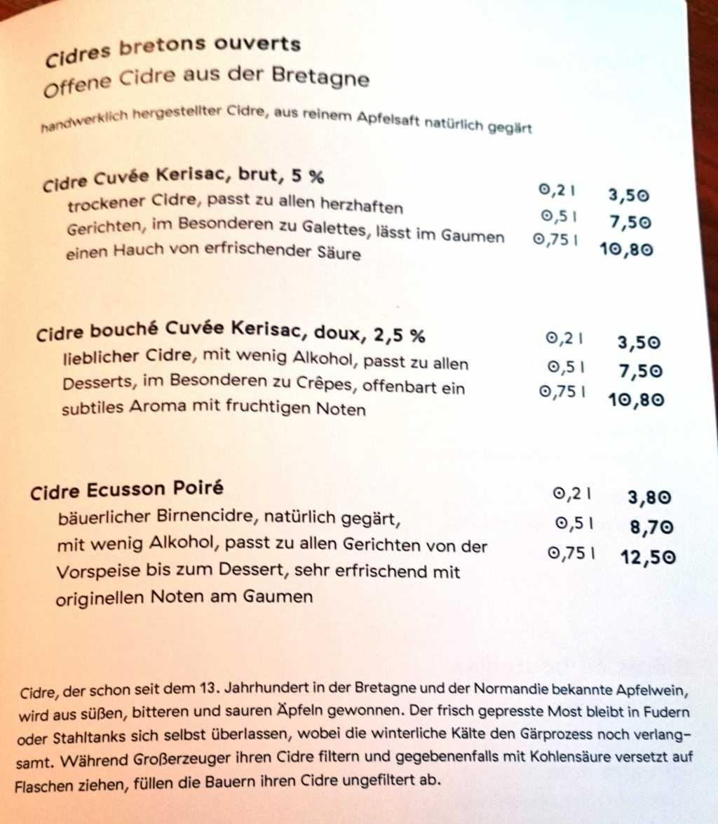 Cidre zur Wahl