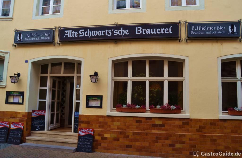 alte schwartz 39 sche brauerei restaurant brauhaus in 67346. Black Bedroom Furniture Sets. Home Design Ideas